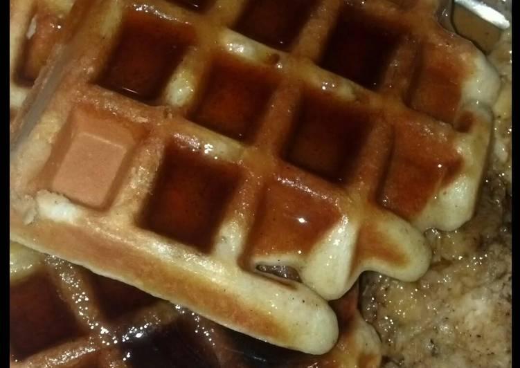SugaMamas Apple Oatmeal Bacon Waffles