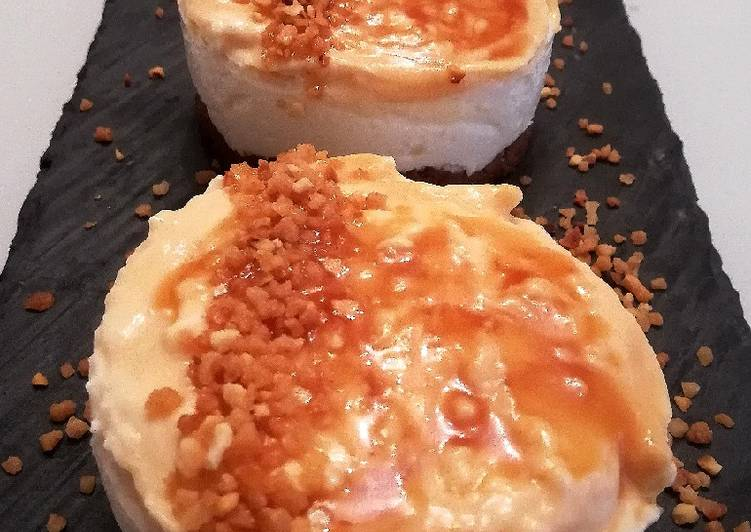 Cheesecake al miele e caramello salato