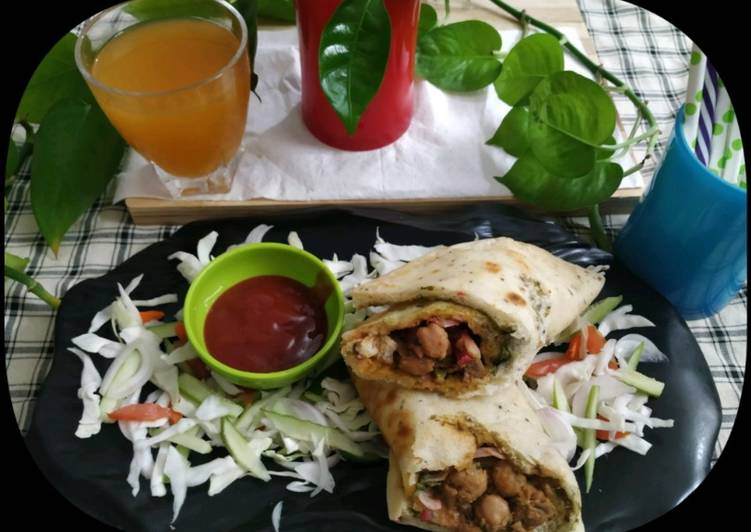 Chatpata Chana Wrap - Laurie G Edwards