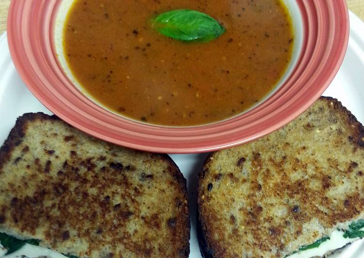Recipe: Yummy Roasted Tomato Basil Soup