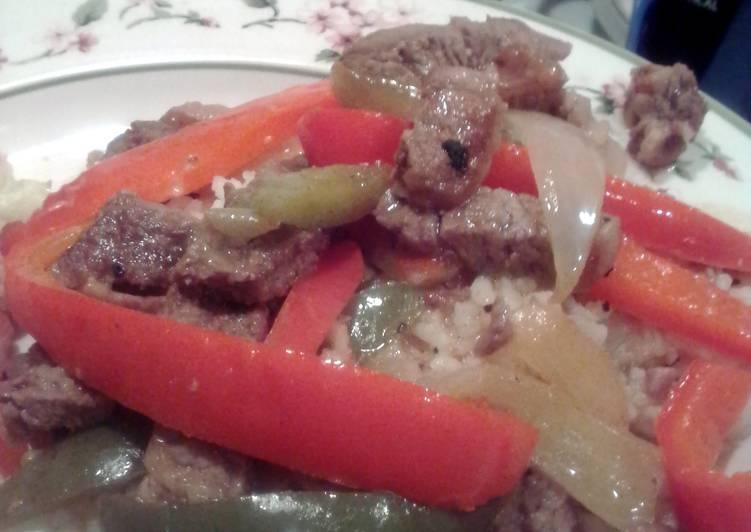 """Sheryl""""s Beef Pepper Steak"""