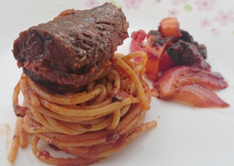 Spaghetti In Black Bean Mackerel Sauce