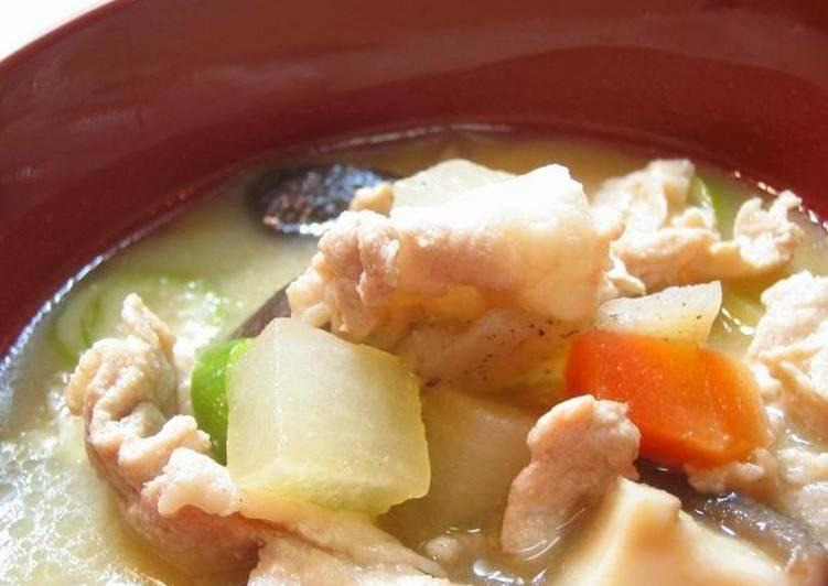 Hearty Pork Miso Soup