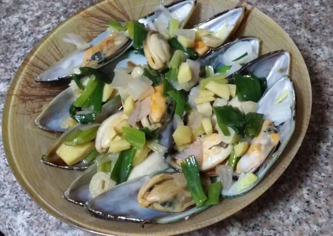 White wine mussels 白酒煮青口