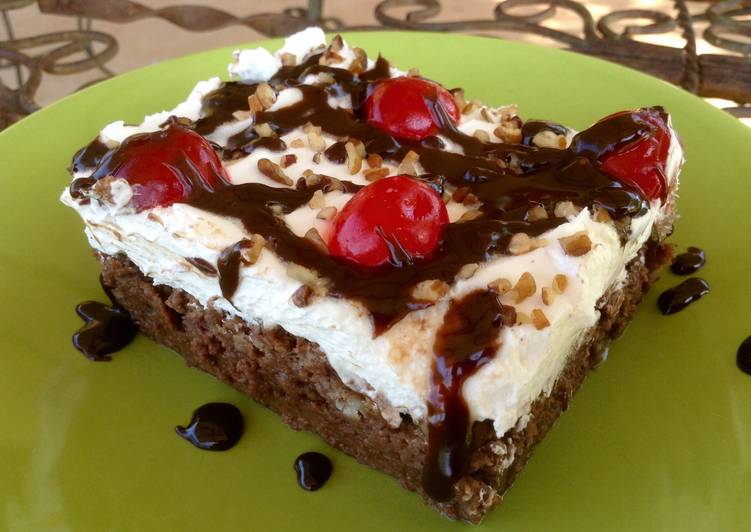 Recipe of Ultimate Hot Fudge Chocolate Bread Pudding Cake