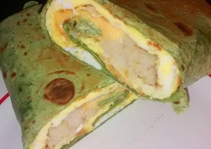 Easy Cheesy Breakfast wrap