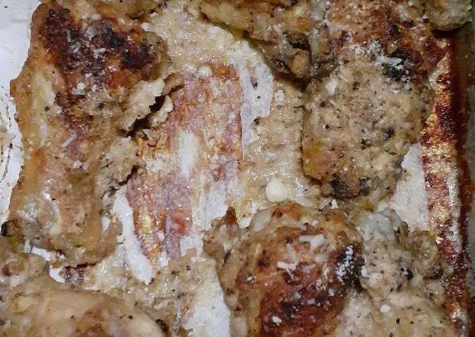 Easiest Way to Prepare Yummy Garlic Parmesan Chicken Recipe Wings (Keto/Low Carb)