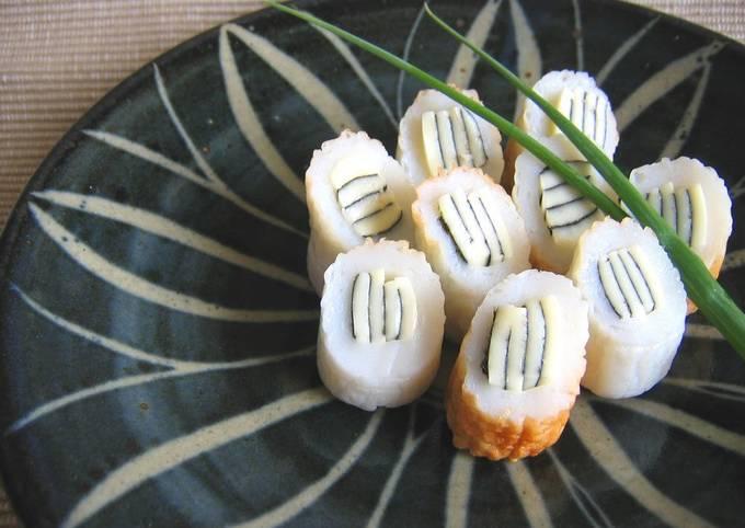 Striped Chikuwa Fishcake Sticks (Bento or Appetizer)