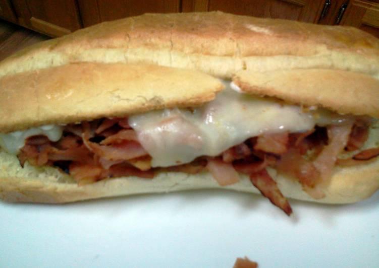 Recipe: Tasty Hot Ham and Cheese Sub Sandwich