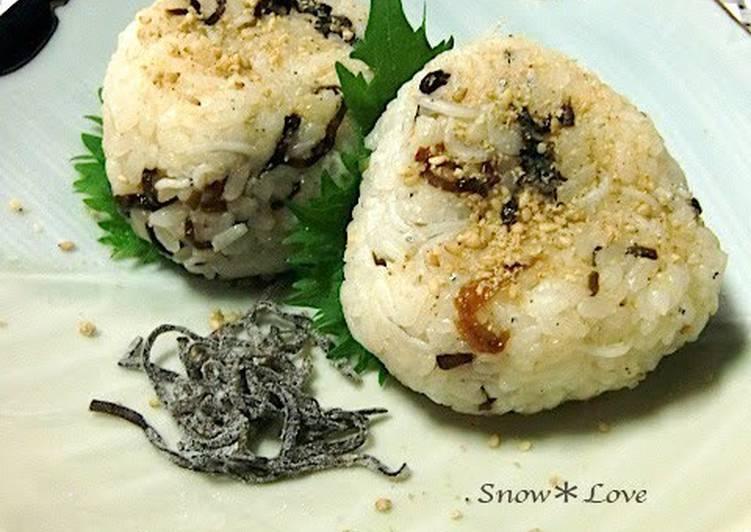 Easiest Way to Prepare Homemade Shio-konbu and Shirasu Rice Balls