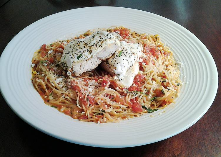 Chicken Parmesan, Easy and Light Version