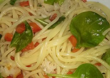 Easiest Way to Make Tasty Linguine with crab chilli and watercress