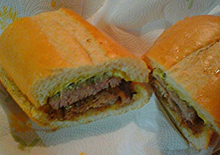 Steps to Make Speedy Lamb and beef on Cuban bread