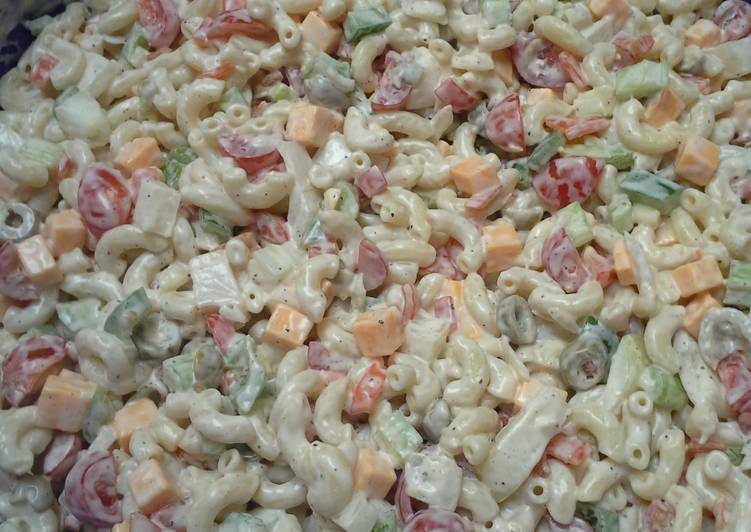Creole Macaroni Salad with Garlic Buttermilk Dressing