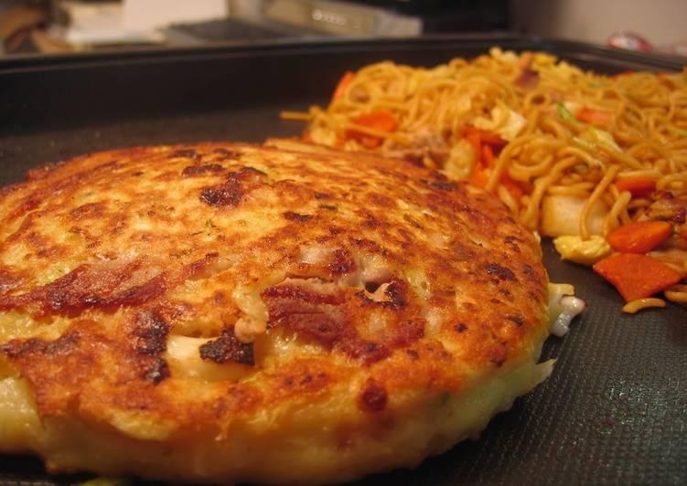 Recipe of Quick Light, Fluffy, and Soft Kansai-Style Okonomiyaki