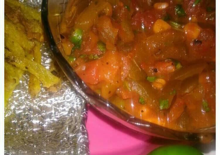 Matbucha- sweet n spicy Arabic dip with pumpkin french fries