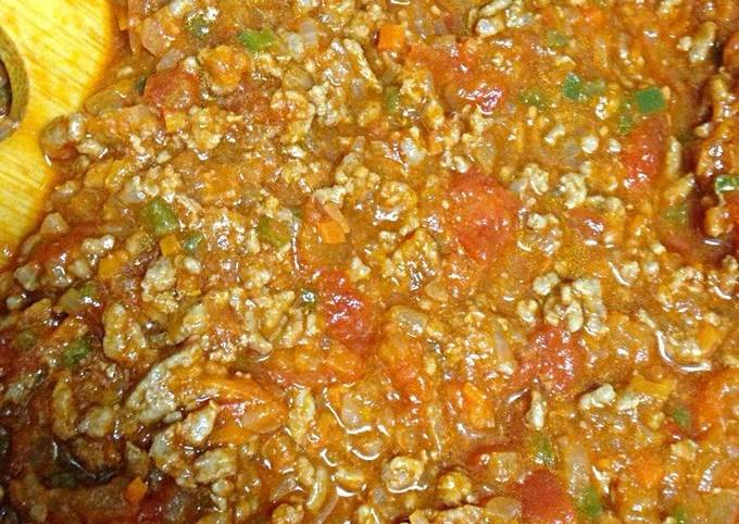 Simple & Exquisite Meat Sauce with Plenty of Vegetables