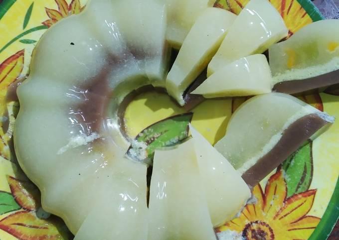 Puding melon coklat