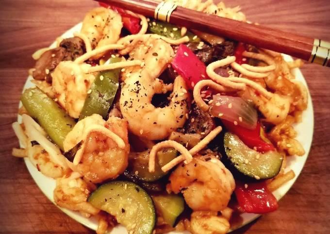 Mike's Sweet & Spicy Firecracker Shrimp & Noodles