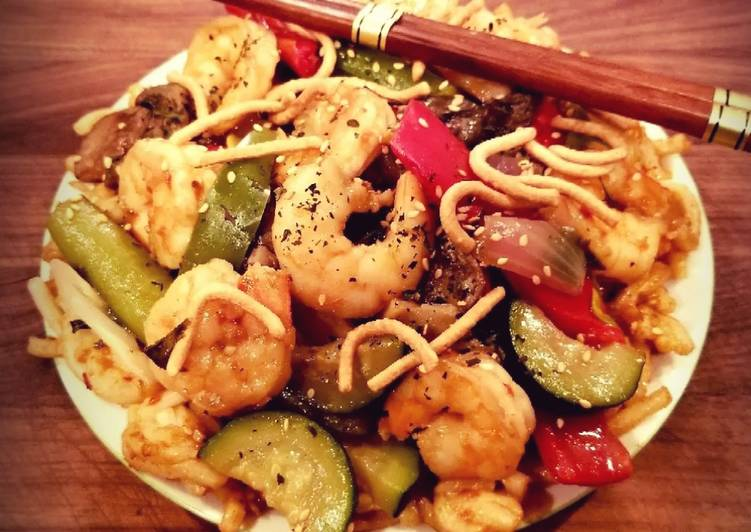 Recipe of Most Popular Mike's Sweet & Spicy Firecracker Shrimp & Noodles