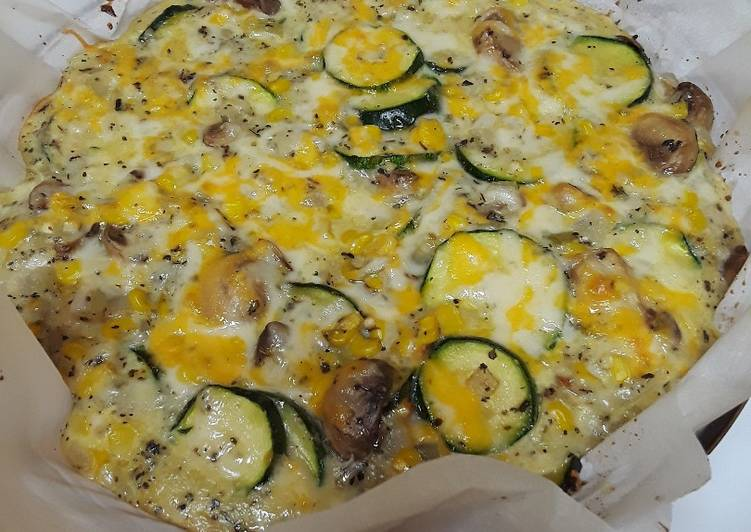 Zucchini and Sweet Corn Crustless Pie