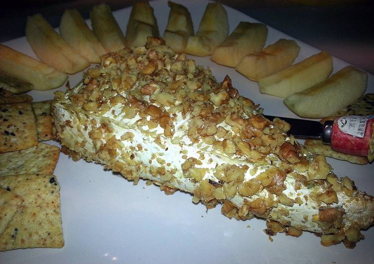 Walnut Crusted Baked Brie