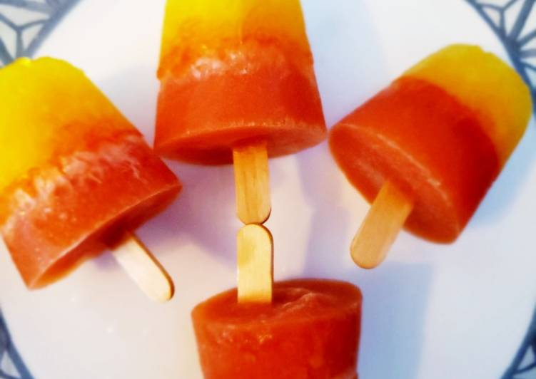 Amazing lemonjello Gatorade popsicle