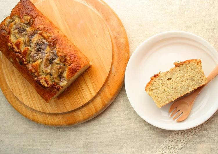 Moist Banana and Walnut Pound Cake