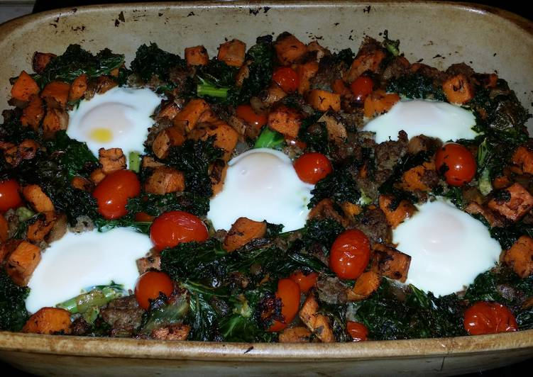 How to Make Homemade Sausage -Kale egg bake