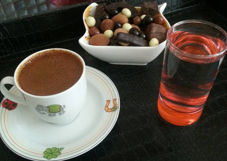 Turkish Coffee (Türk Kahvesi) and details as well as with fragrance