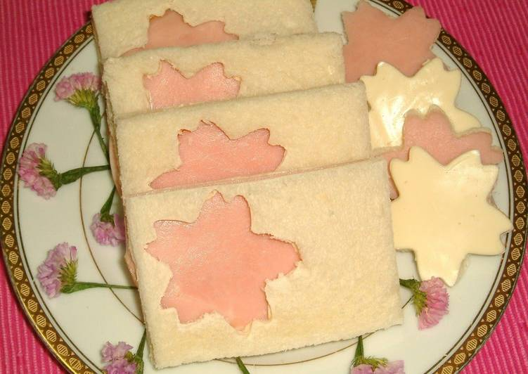 Recipe of Any-night-of-the-week Cherry Blossom Viewing Sakura Sandwiches