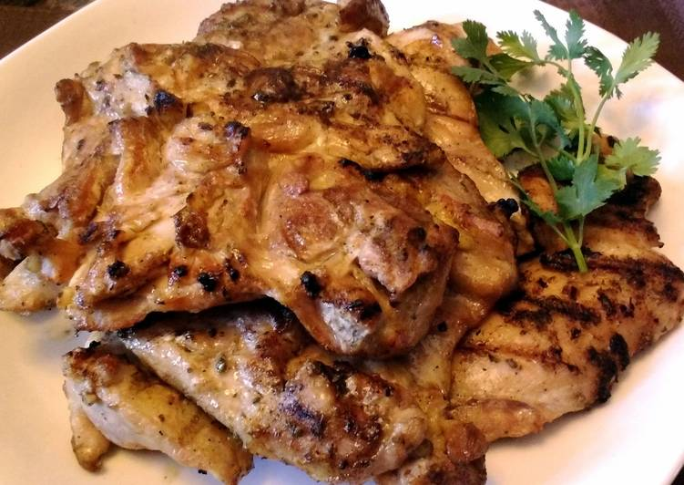 Steps to Make Award-winning Greek Spice Grilled Chicken Thighs