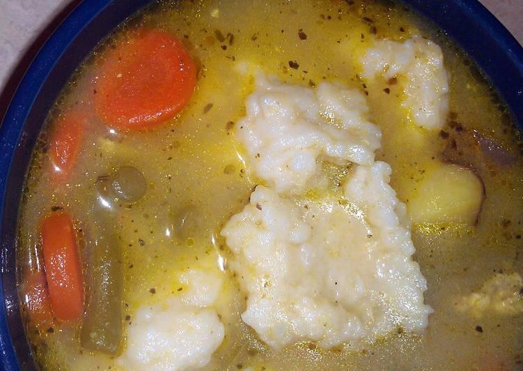 Recipe of Homemade moms dumplings for chicken noodle dumpling soup (for large batch