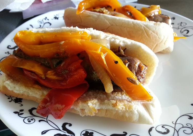Crockpot Italian Sausages and Peppers