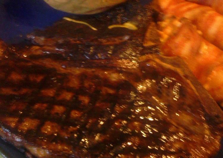 Recipe of Super Quick Homemade sunshine' s  T- Bone steak