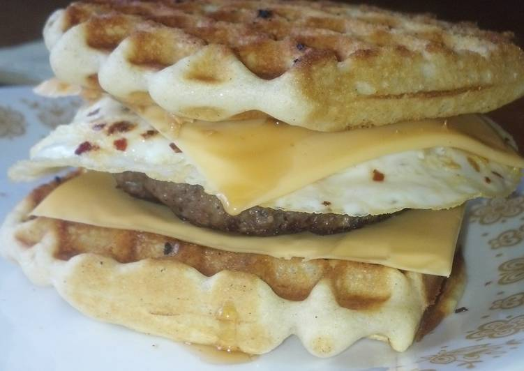 How to Prepare Ultimate Ultimate Breakfast Banana Waffle Sandwich