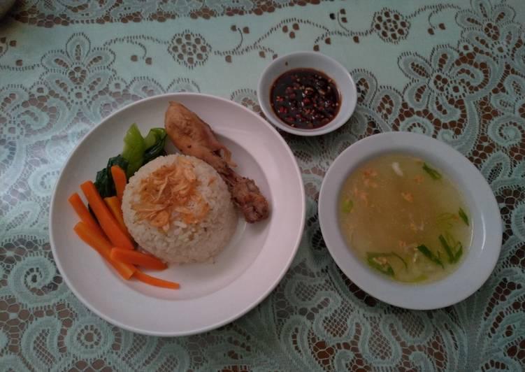 Nasi dan ayam Hainan
