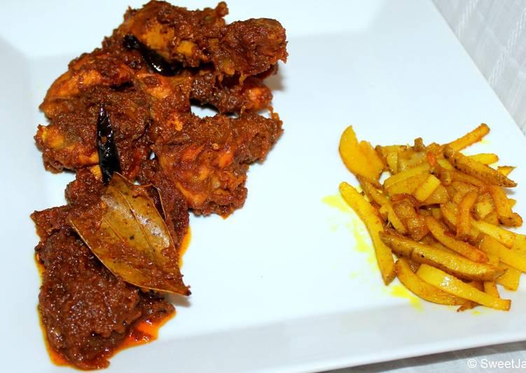 Recipe: Delectable Spicy dry chicken or Bengali kosha murgir mangsho