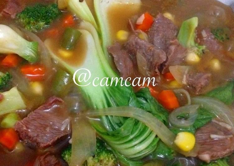 Bistik daging saus tiram