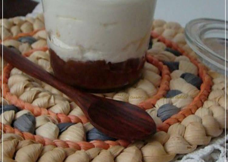 Crème de marron au fromage blanc en verrine