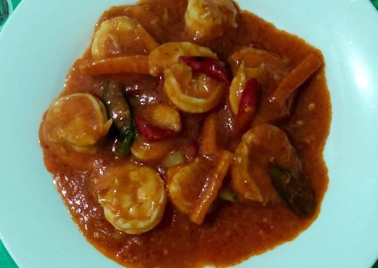 Udang asam manis pedas - cookandrecipe.com
