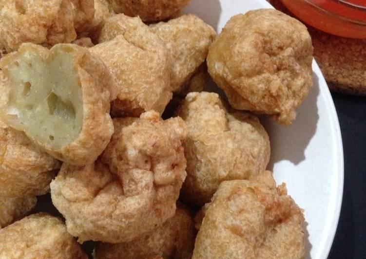 Bakso goreng ayam+udang resep @xanderskitchen tapi ulen tangan manual :)