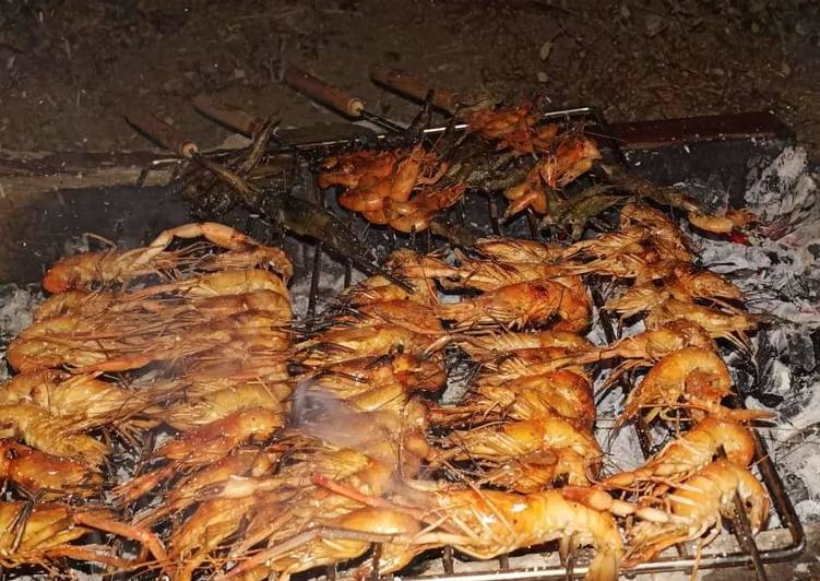 How to Prepare Simple Shrimp grilled 🤤