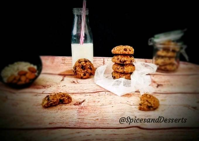 Easiest Way to Make Appetizing Almond Oats Chocolate Chip Cookies