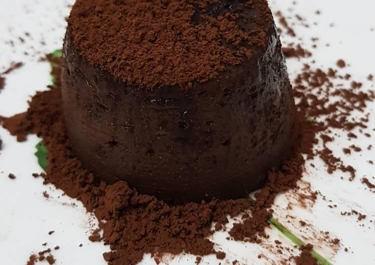 Milo lava cake (versi kukus)