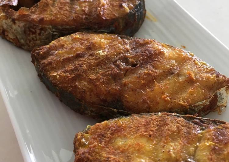 Easy Air-Fried Turmeric Batang Fish