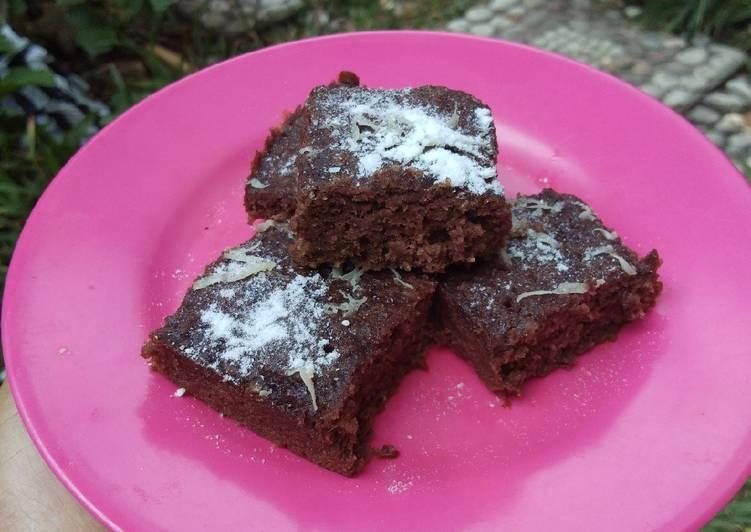 Brownies kukus oatmeal kurma