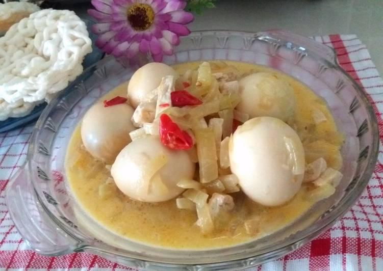 Sambal Goreng Labu Siam Tahu Telur