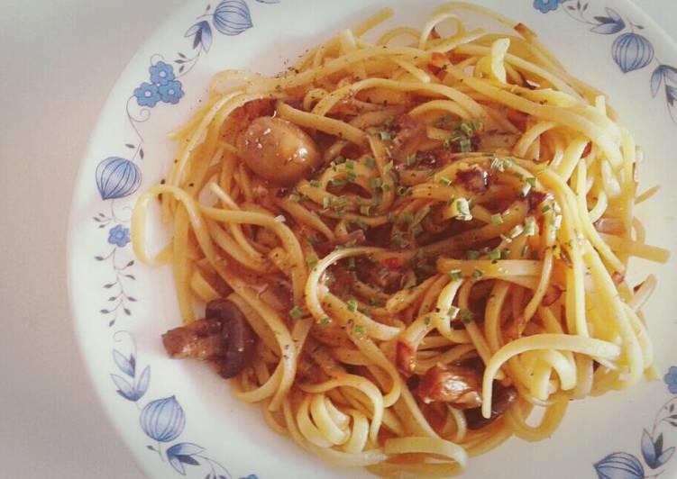 Maple Syrup Mushroom Pasta – Eating Well Cookbooks