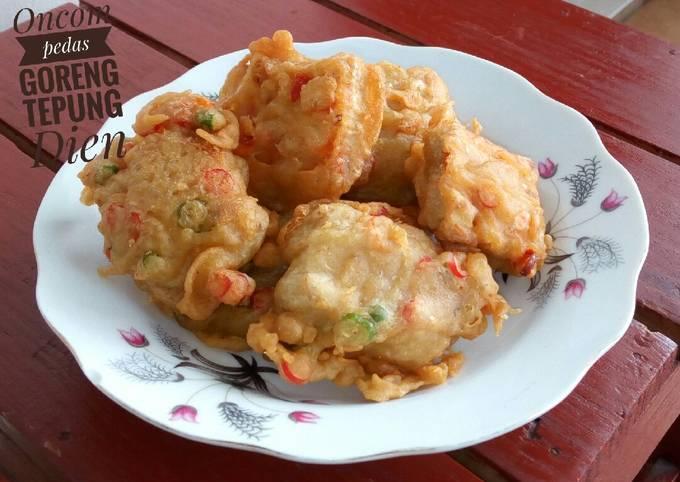 Resep Oncom Pedas Goreng Tepung Oleh Dapur Dien Cookpad